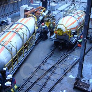 Тоннельное бетонодоставочное оборудование