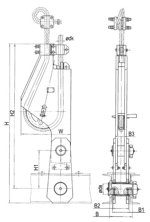Общий вид подвесных устройства УПС