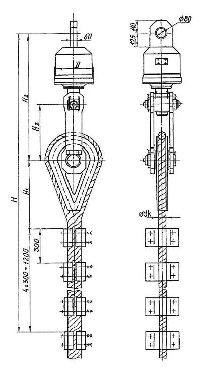 Общий вид подвесных устройств УП-М