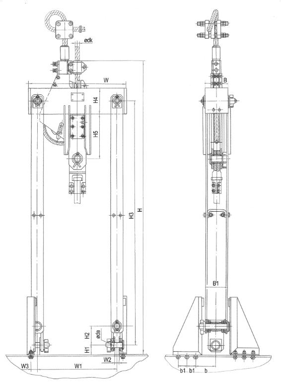 Общий вид подвесных устройств УП