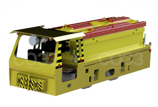 Электровоз аккумуляторный (Вид спереди)